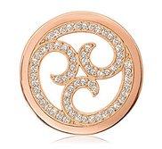 Nikki Lissoni Rose tone 1 1 4 Inch Swarovski Sparkling Curls Coin