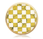 Nikki Lissoni Gold tone 1 1 4 Inch Shell   Epoxy Mosaic Coin