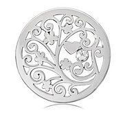 Nikki Lissoni Silver tone 1 1 4 Inch Swarovski Element TreeofLove Coin