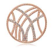 Nikki Lissoni Rose tone 1 1 4 Inch Swarovski Rebellious Stripes Coin