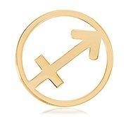 Nikki Lissoni Gold tone 1 1 4 Inch Sagittarius Coin