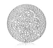 Nikki Lissoni Silver tone 1 1 4 Inch Spanish Memories Coin