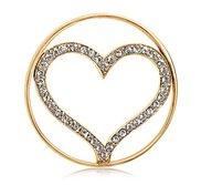 Nikki Lissoni Gold tone 1 1 4 Inch Swarovski Sparkling Heart Coin