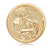 Nikki Lissoni Gold tone 1 1 4 Inch two sided Proud Mama Coin