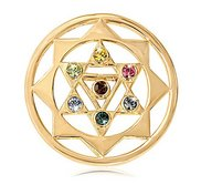 Nikki Lissoni Gold tone 1 1 4 Inch Multicolor Swarovski The 7 Chakras
