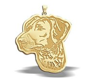 German Shorthaired Pointer Dog Portrait Charm or Pendant