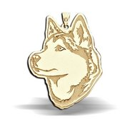 Siberian Husky Dog Portrait Charm or Pendant