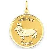 Welsh Corgi Disc Charm or Pendant