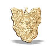 Yorkshire Terrier Dog Portrait Charm or Pendant