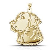 Labrador Retriever Dog Portrait Charm or Pendant