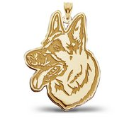 German Shepherd Dog Portrait Charm or Pendant