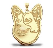 Pembroke Welsh Corgi Dog Portrait Charm or Pendant