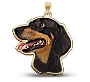 Dachshund Dog Color Portrait Charm or Pendant