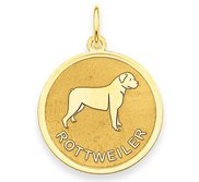 Rottweiler Disc Charm or Pendant