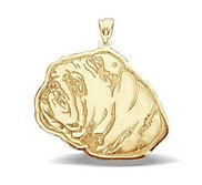 English Bulldog Dog Portrait Charm or Pendant