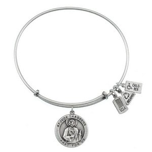 Wind   Fire  Saint Jude Medal  Expandable Bracelet
