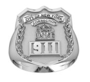 Personalized Corrections Badge Ring with Number   Department