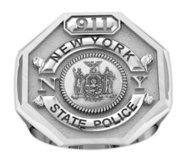 Personalized State Trooper Badge Ring with Number   Department