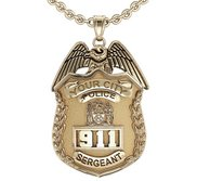 Personalized Sergeant Badge w  Your Number   Department