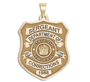 Personalized New Jersey Correction Police Shield Badge with Your Rank  Number   Department