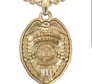 Personalized New Jersey Police Badge with Your Name  Rank  Number   Department