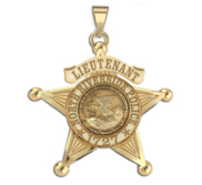 Personalized Illinois 5 Point Star Sheriff Badge with Your Rank  Department and Number