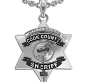 Cook County Sheriff Badge with Black Enamel