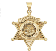 Personalized Illinois 6 Point Star Sheriff Badge with Your Rank  Department and Number