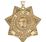Personalized California Department of Corrections Badge w  Rank and Number