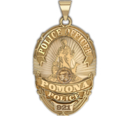 Personalized Pomona California Police Badge w  Your Rank and Number