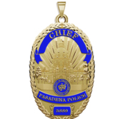 Personalized Pasadena California Sheriff Badge with Rank  Number   Dept