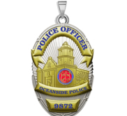 Personalized Oceanside California Police Badge with Your Rank and Number