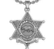 Personalized California Sheriff Badge with Name and Rank