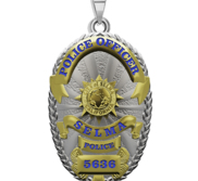 Personalized California Selma Police Badge with Your Rank and Number