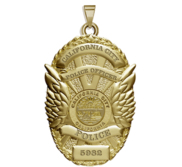 Personalized California City Police Badge with Your Rank  Department and Number