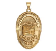 Personalized Pleasant Hill Police Badge with Your Rank and Number