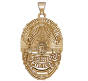Personalized Palos Verdes California Police Badge w  Your Rank and Number