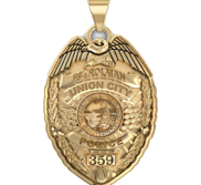 Personalized California Police Badge with Your Rank  Department and Number