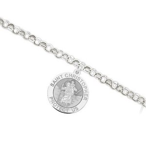 Saint Christopher Religious Anklet    EXCLUSIVE