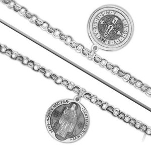 Double Sided Saint Benedict Jubilee Religious Anklet    EXCLUSIVE