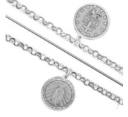Double Sided Miraculous Medal Religious Anklet    EXCLUSIVE