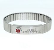 Stainless Steel Men s Do Not Resuscitate Expansion Bracelet