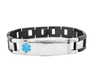 Stainless Steel Men s Medical ID Expansion Bracelet