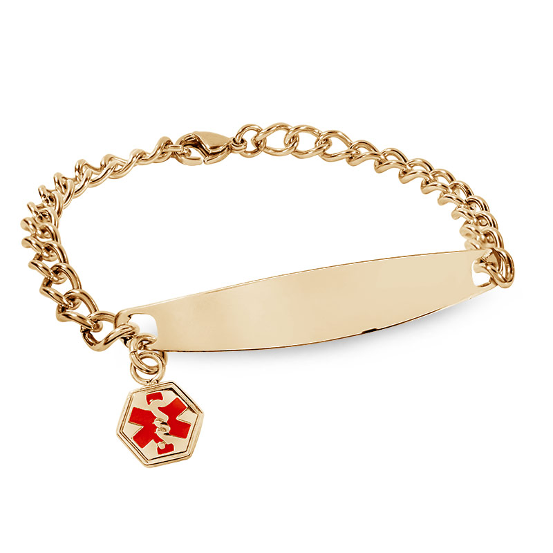 3295813bc29 Gold Plated Stainless Steel Women's Medical ID Bracelet