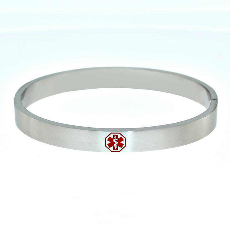 Medical Id Bangle Bracelet