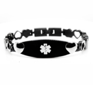 Stainless Steel Women s Medical ID Expansion Bracelet