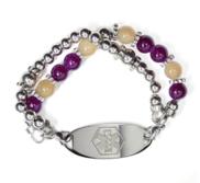 Stainless Steel Ladies Expansion Bead Bracelet