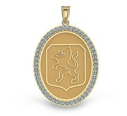 Dutch Warmblood Diamond Studded Horse Breed Oval Medal    EXCLUSIVE
