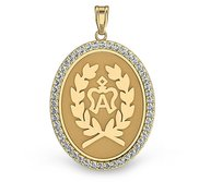 American Warmblood  Full Logo  Diamond Studded Horse Breed Oval Medal    EXCLUSIVE