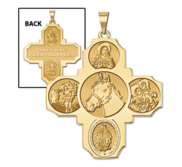 Four Way Cross   Equestrian Religious Medal   EXCLUSIVE